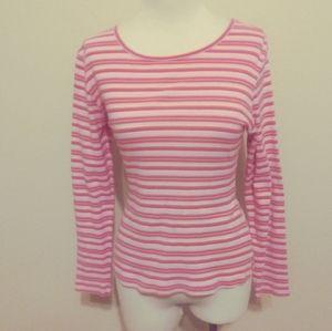 Columbia shirt women small striped pink